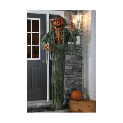 Hanging Light Up Pumpkin Head Scarecrow