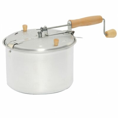 Aluminum Stove-top 6 Quart Popcorn Popper and Nut Roaster