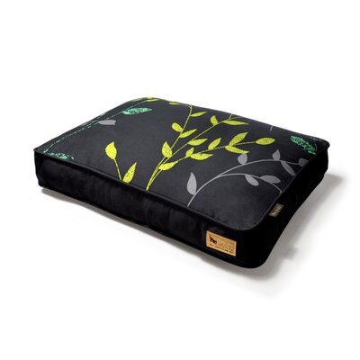 P.L.A.Y. Backyard Greenery Rectangular Dog Bed in Slate Grey / Dark Grey
