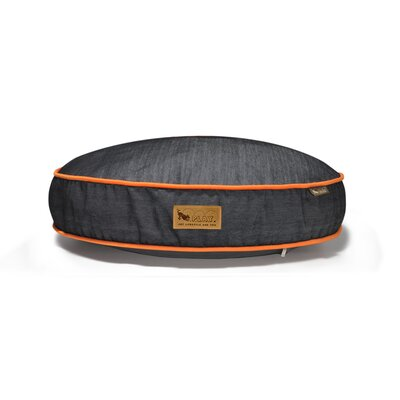 P.L.A.Y. Signature Urban Denim Round Dog Bed in Medieval Blue / Mandarin