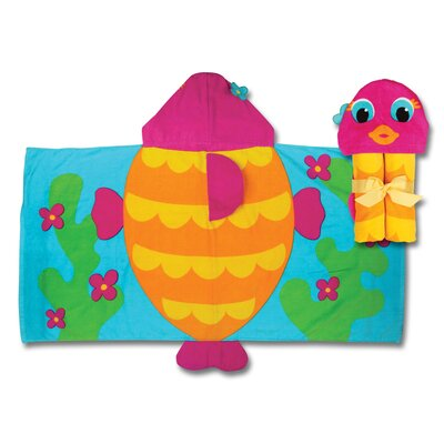 Stephen Joseph Fish Hooded Towel