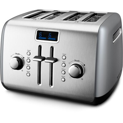KitchenAid 4-Slice Manual High-Lift Toaster with LCD Display