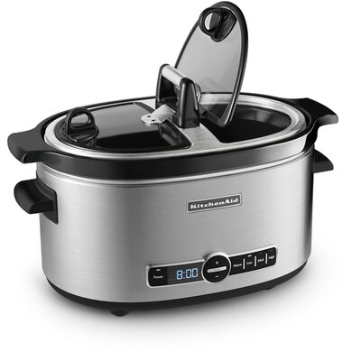 KitchenAid 6 Quart Slow Cooker with Hinged Lid