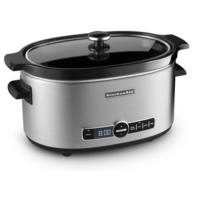 KitchenAid 6 Quart Slow Cooker with Glass Lid