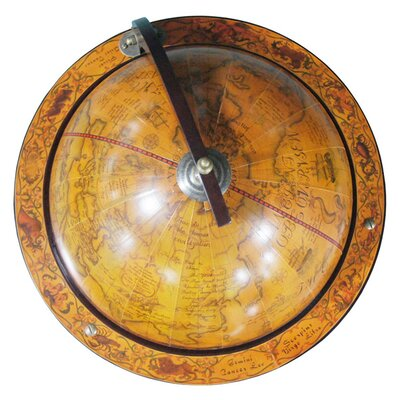 "Merske LLC Italian Style 17.5"" Floor Globe Bar in Old World"