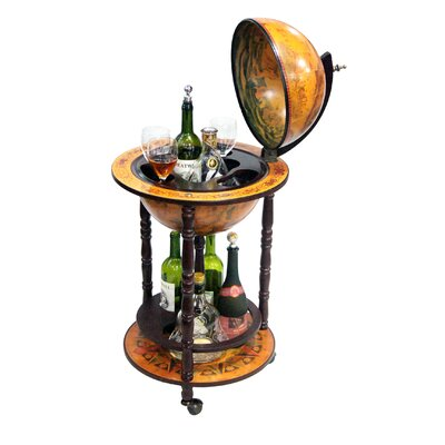 "Merske LLC Italian Style 13"" Floor Globe Bar in Old World"