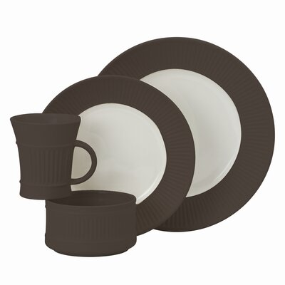 Dansk Flamestone Brown 4 Piece Place Setting