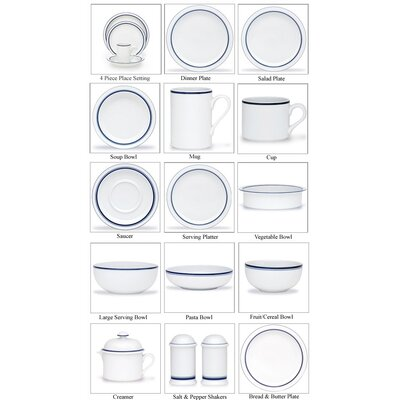 Dansk Bistro Christianshavn Blue Dinnerware Collection