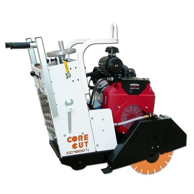 "Diamond Products 18 HP 20"" Blade Capacity Gas Dry and Wet Self-Propelled Concrete Saw"