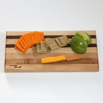 Medium Maple Utility Cutting Board with Walnut Accent