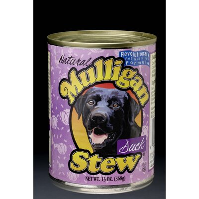 Mulligan Stew Premium Dog Food 13 oz. Premium Canned Duck Recipe Wet Dog Food (Set of 12)