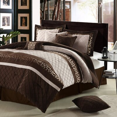 Cheetah 8-Piece Oversized and Overfilled Comforter Set