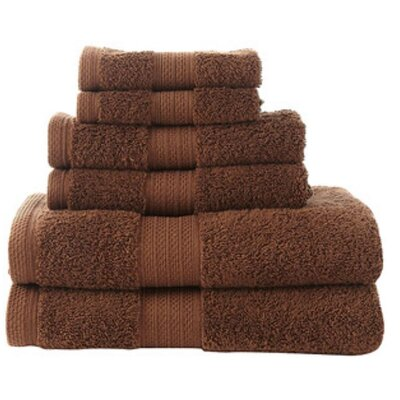 100% Cotton 6 Piece Towel Set