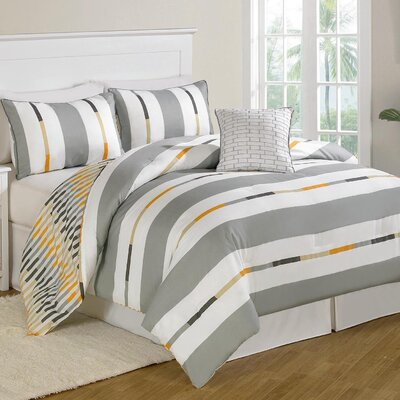 Prinston Stripe 8 Piece Bed in a Bag Set