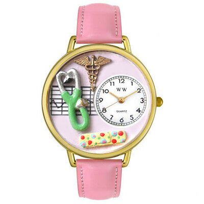 Whimsical Watches Unisex Nurse Two Watch in Gold