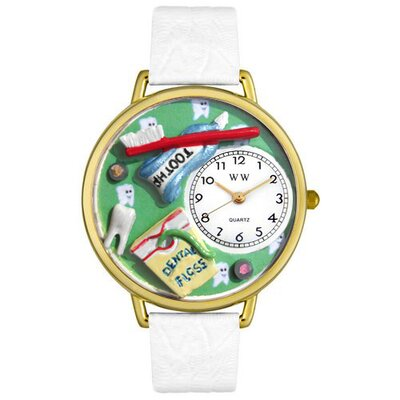 Unisex Dental Assistant Watch in Gold