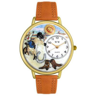 Whimsical Watches Unisex Rodeo Watch in Gold