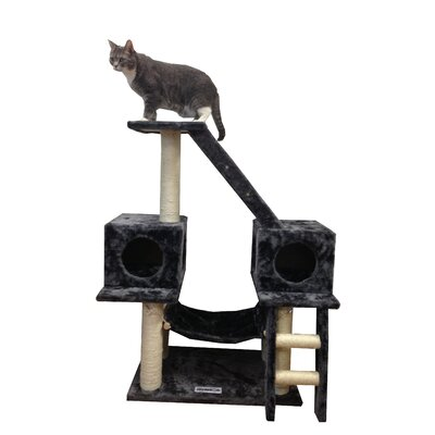 "Kitty Mansions 43"" Alaska Cat Tree in Grey"
