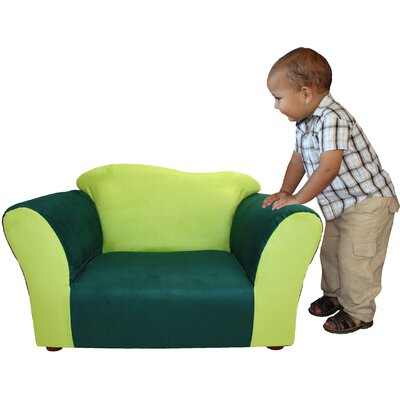 Fantasy Furniture Kid's Wave Microsuede Chair