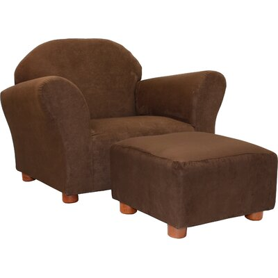 Roundy Microsuede Kid's Novelty Chair and Ottoman Set