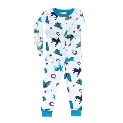 New Jammies Mitted Jammie Stallion Boys Organic Pajama