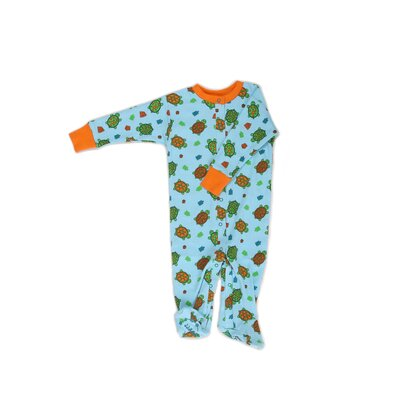 New Jammies Organic Cotton Footie Turtles
