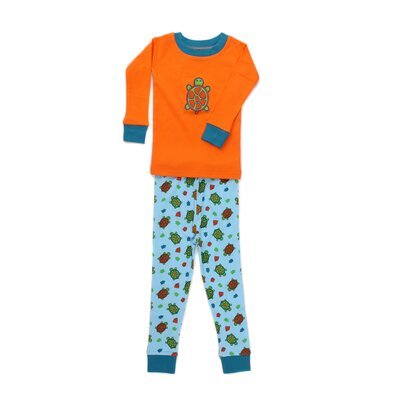 New Jammies Applique Organic Cotton PJ Turtles