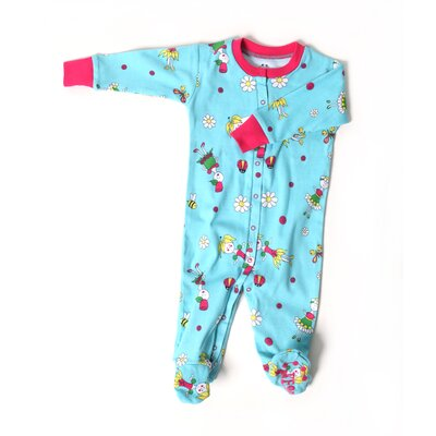 New Jammies Flower Girl Organic Cotton Footie