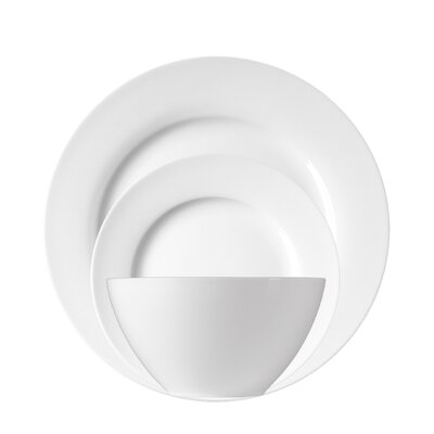 White Porcelain 12 Piece Dinnerware Set