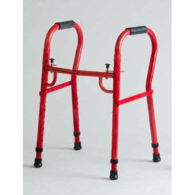 TFI Double Button Folding Pediatric Walker in Red