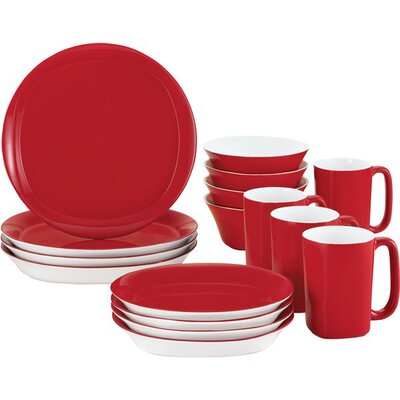Round & Square 16-Piece Dinnerware Set