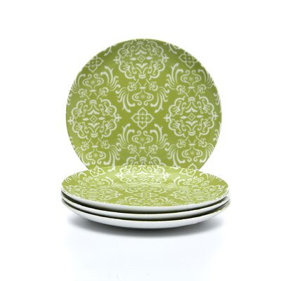 "Curly-Q Green 8"" Salad/Dessert Plates: Set of (4)"