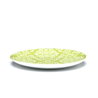 "Rachael Ray Curly-Q Green 8"" Salad/Dessert Plates: Set of (4)"