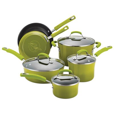 Rachael Ray 10-Piece Nonstick Cookware Set
