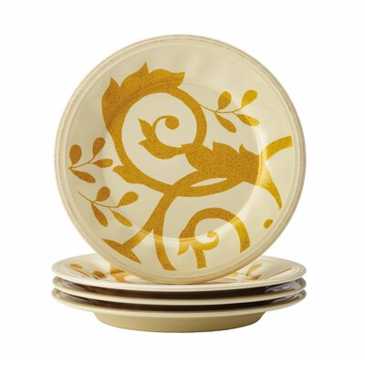Rachael Ray Gold Scroll Salad Plate