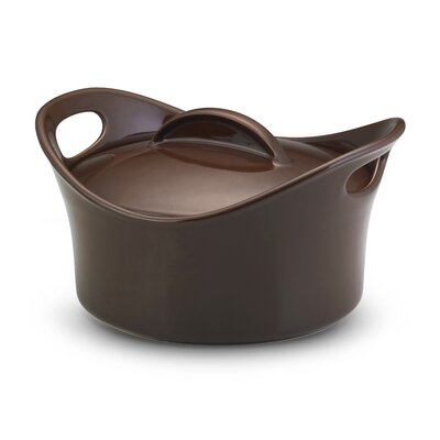 Rachael Ray Bubble and Brown 4 1/4-Qt. Stoneware Oval Casserole
