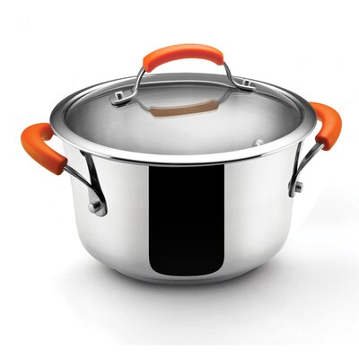 Rachael Ray Stainless Steel II 4-qt. Stock Pot with Lid