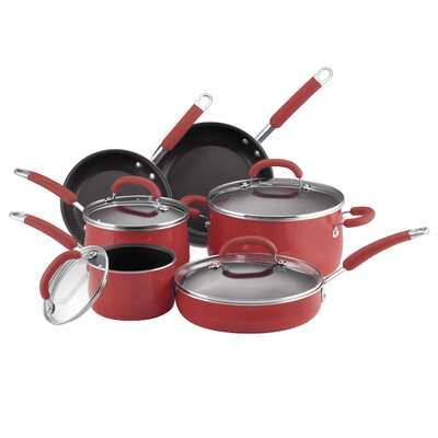 Rachael Ray Porcelain Enamel 10-Piece Cookware Set