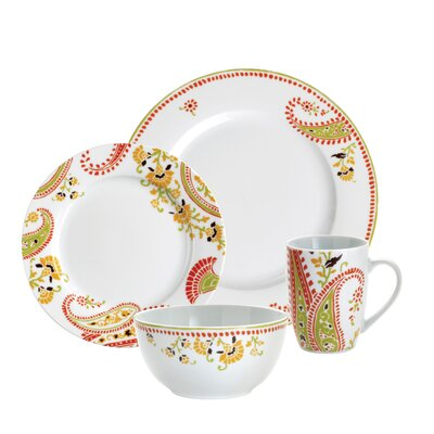 Rachael Ray Paisley 16 Piece Dinnerware Set