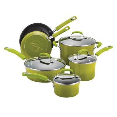 Rachael Ray Porcelain II 10-Piece Non-Stick Cookware Set