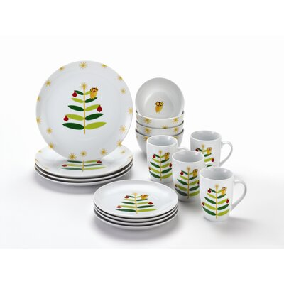 Rachael Ray Holiday Hoot Dinnerware Set