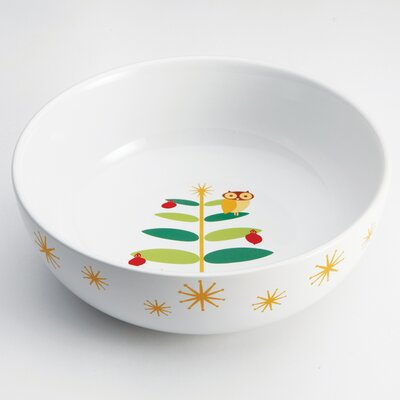 "Rachael Ray Holiday Hoot 10"" Round Serving Bowl"