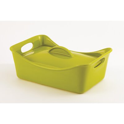Stoneware 3.5-Qt. Rectangle Casserole with Lid