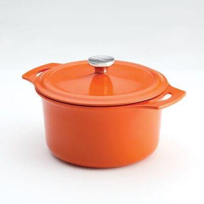 Rachael Ray Cast Iron 5 Qt. Covered Round Dutch Oven