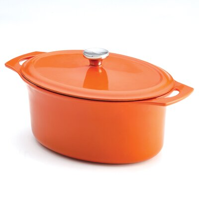 Rachael Ray Cast Iron 6.5-Quart Covered Oval Casserole