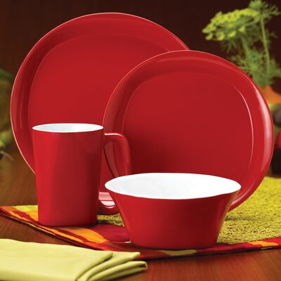 Rachael Ray Round and Square 4 Piece Place Setting
