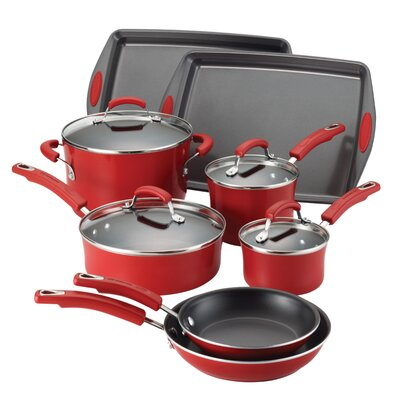 Rachael Ray Porcelain II 12-Piece Cookware Set