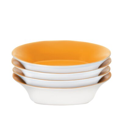 "Rachael Ray Round & Square 9"" Soup/Pasta Bowls: Set of (4)"