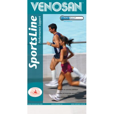 Venosan Sportsline 15-20 mmHg Crew Length Closed Toe Sock