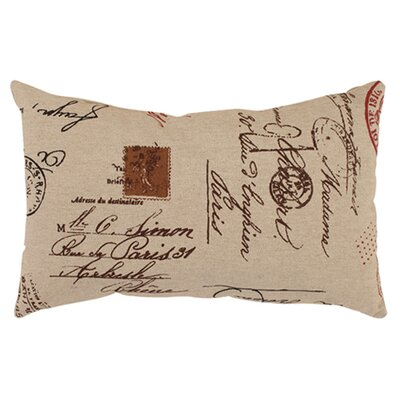 French Postale Rectangular Throw Pillow